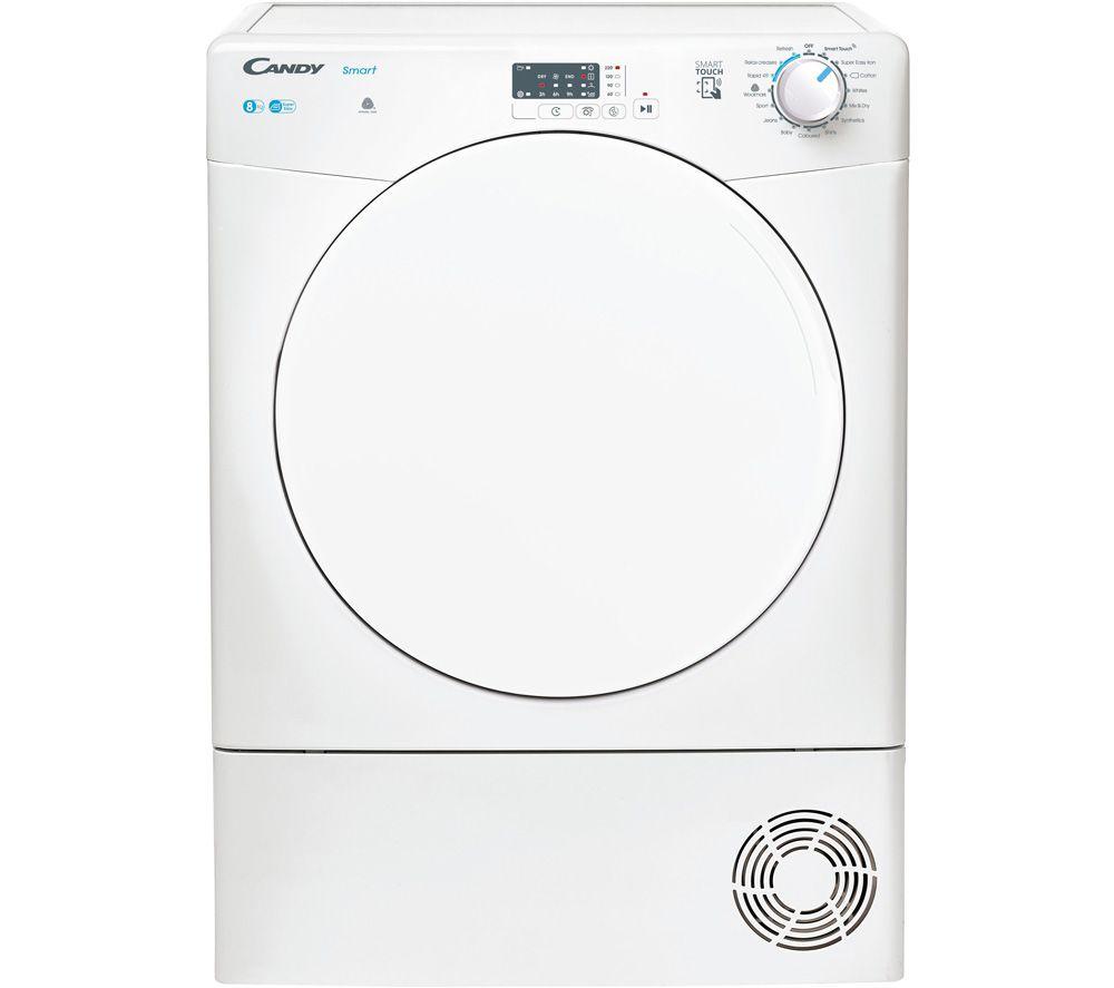 CANDY Smart KSE C8LF NFC 8 kg Condenser Tumble Dryer - White, White