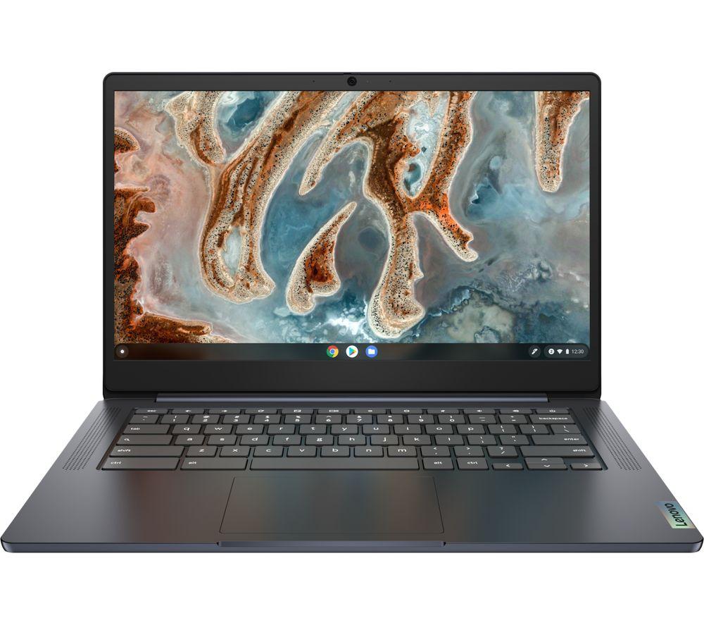 "Image of LENOVO IdeaPad 3 14"" Chromebook - MediaTek MT8183, 64 GB eMMC, Blue, Blue"