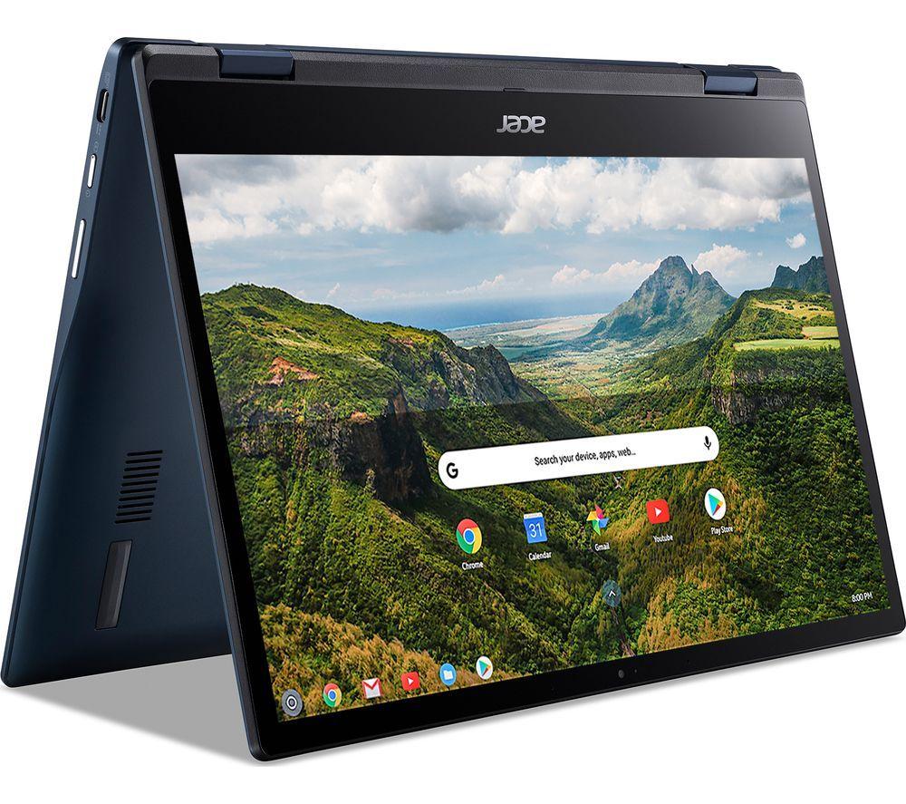 "Image of ACER Spin 513 LTE 13.3"" 2 in 1 Chromebook & 20 GB 4G SIM Card Bundle - Qualcomm SC7180, 128 GB eMMC, Blue, Blue"