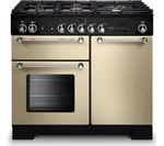 RANGEMASTER Kitchener 100 Dual Fuel Range Cooker - Cream & Chrome
