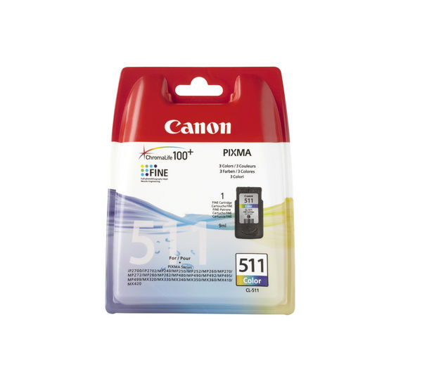 Image of Canon CL-511 - ink tank - colour (cyan, magenta, yellow)
