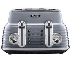 DELONGHI Scultura CTZ4003GY 4-Slice Toaster - Gun Metal