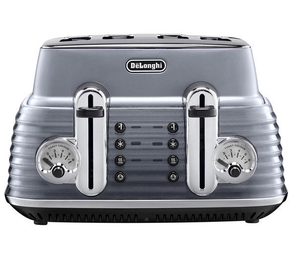 Image of DELONGHI Scultura CTZ4003GY 4-Slice Toaster - Gun Metal