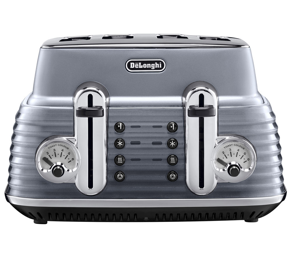 buy delonghi scultura ctz4003gy 4 slice toaster gun metal free delivery currys. Black Bedroom Furniture Sets. Home Design Ideas
