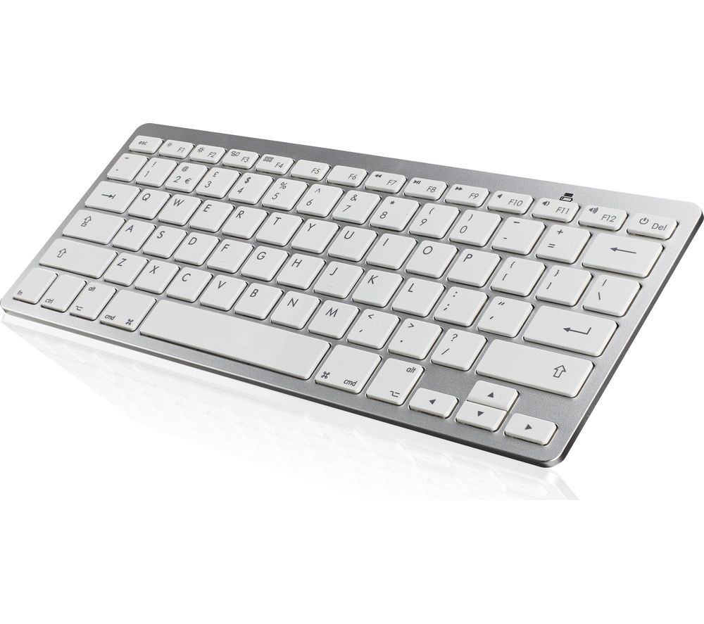 iwantit ikbcomp15 bluetooth keyboard white silver fast delivery currysie. Black Bedroom Furniture Sets. Home Design Ideas