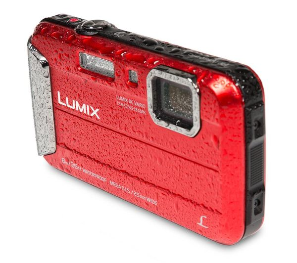 PANASONIC Lumix DMC-FT30EB-R Tough Compact Camera - Red + SWCOM13 Camera  Case - Black + Extreme Plus Class 10 SDHC Memory Card - 16 GB, Twin Pack