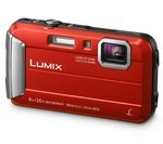 PANASONIC Lumix DMC-FT30EB-R Tough Compact Camera - Red