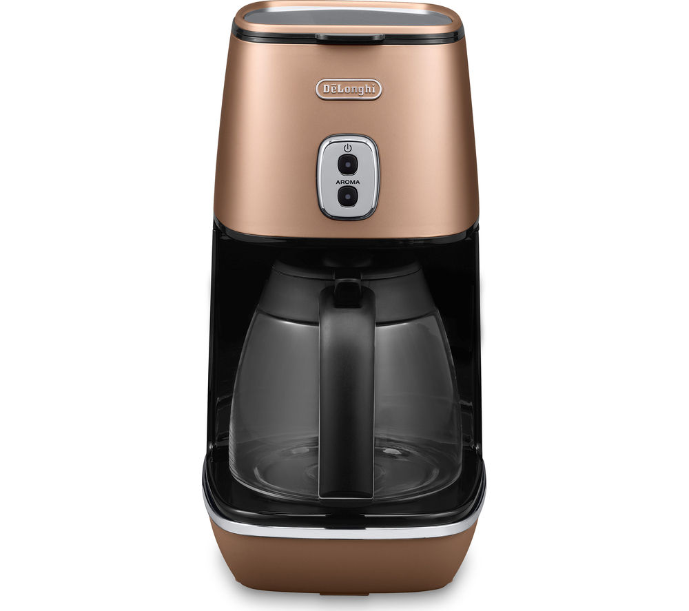Delonghi Coffee Maker Ec7 : Buy DELONGHI Distinta ICMI211.CP Coffee Maker - Copper Free Delivery Currys
