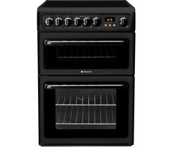 HOTPOINT HAE60KS Electric Ceramic Cooker - Black Best Price, Cheapest Prices