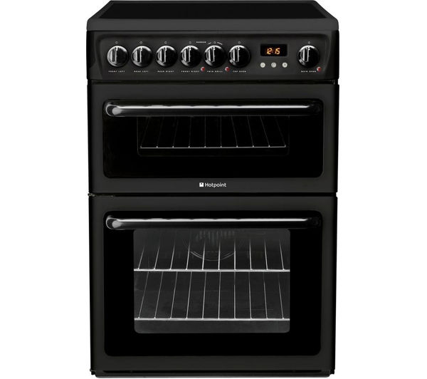 HOTPOINT HAE60KS Electric Ceramic Cooker - Black