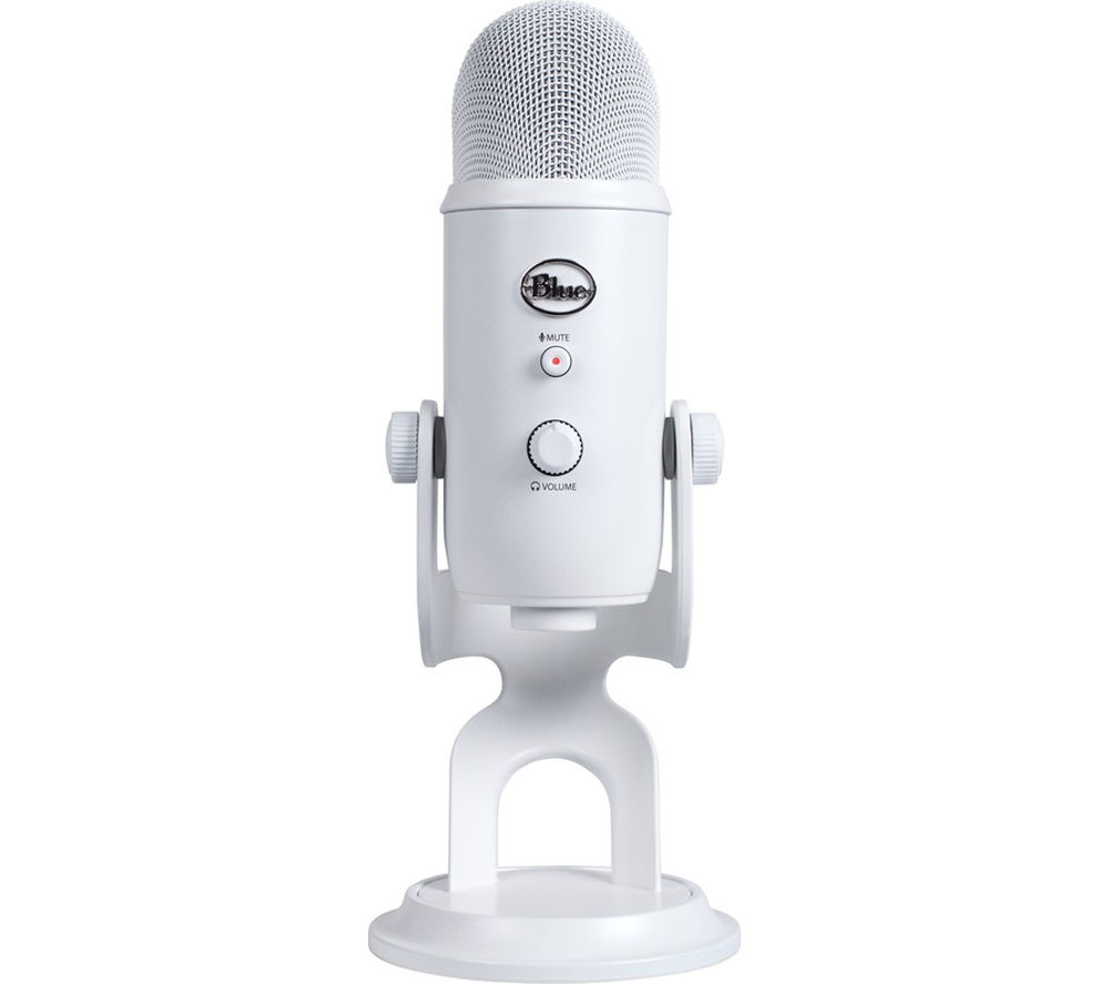 Image of BLUE Yeti Professional USB Microphone - White, Blue