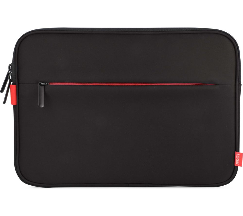 LOGIK LPSSLRD16 Surface Pro Sleeve - Black & Red