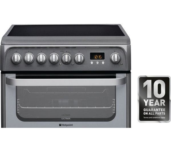 Buy Hotpoint Ultima Hue61gs 60 Cm Electric Ceramic Cooker