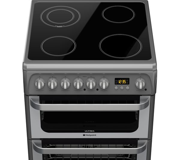 Hotpoint Ultima Hue61gs 60 Cm Electric Ceramic Cooker