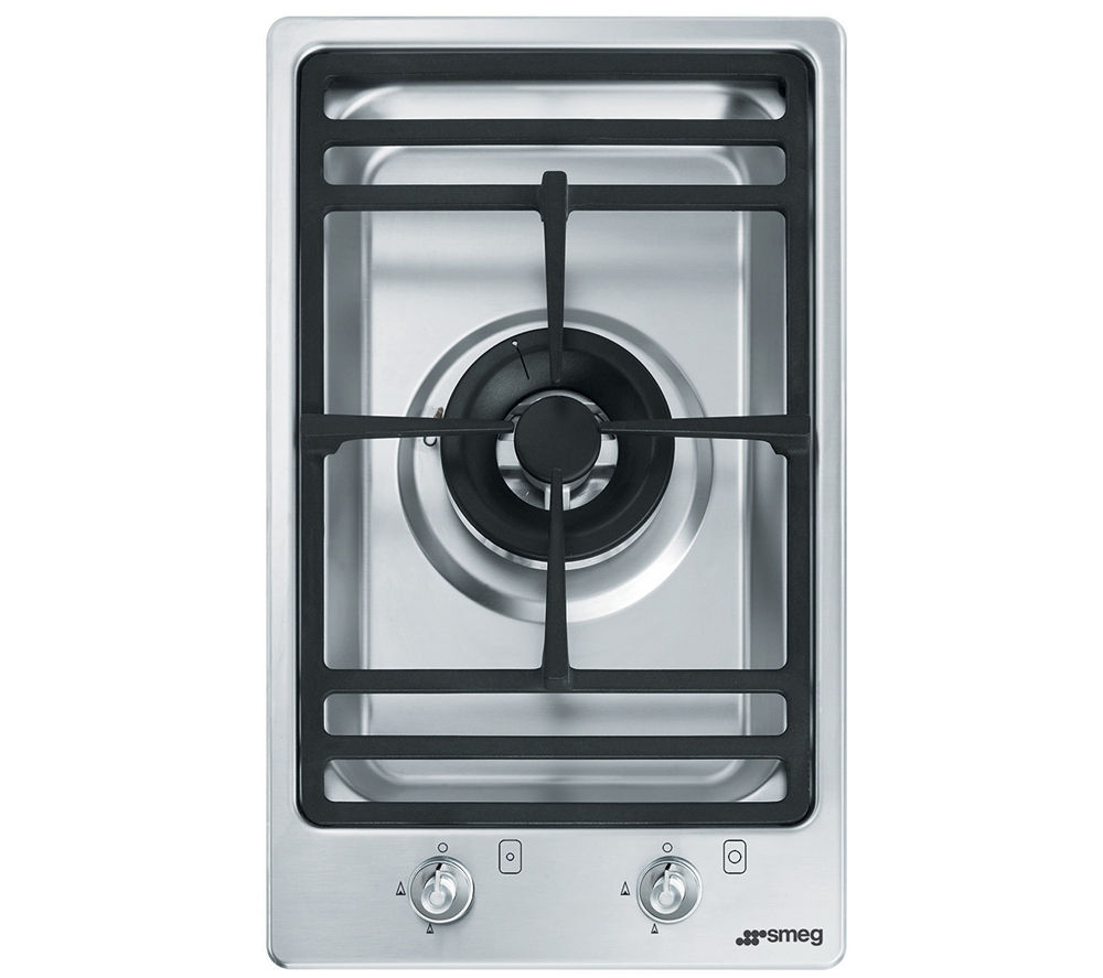SMEG PGF31G-1 Gas Domino Hob - Stainless Steel