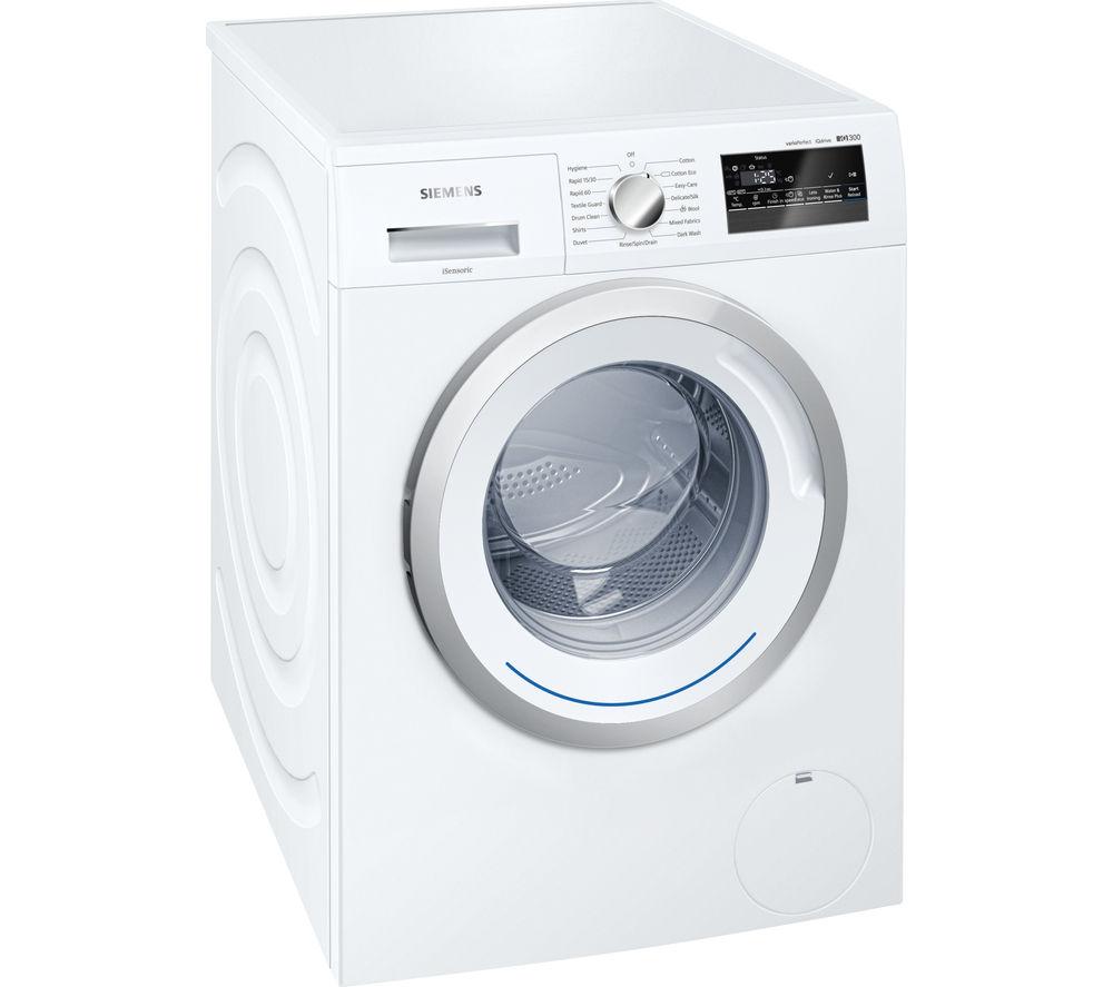 Image of SIEMENS iQ300 WM14N200GB Washing Machine - White, White