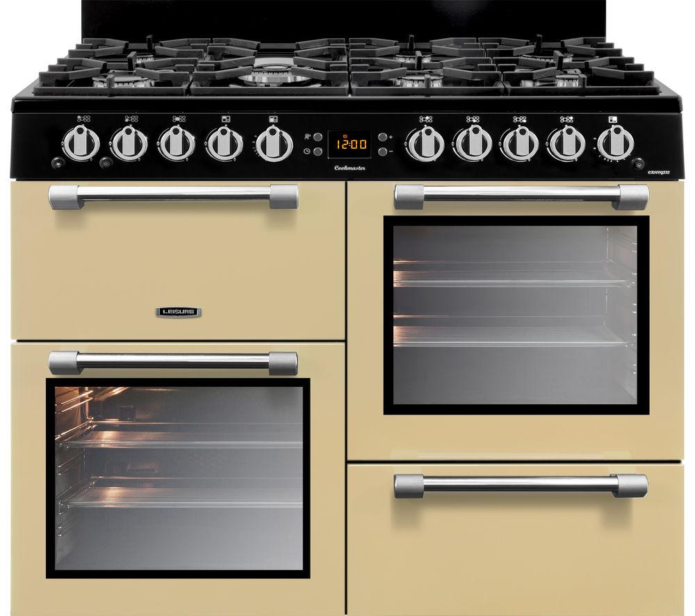 Image of LEISURE Cookmaster CK100G232C 100 cm Gas Range Cooker - Cream & Chrome, Cream