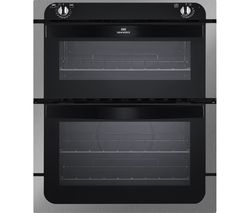NW701DO Electric Built-under Double Oven - Black & Stainless Steel