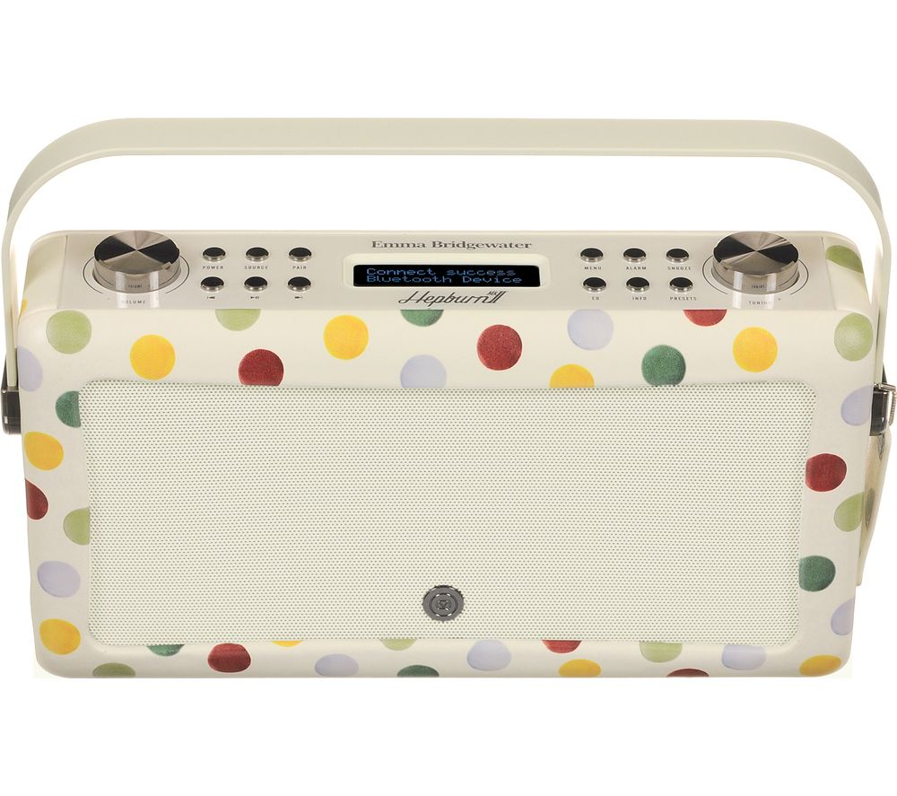 by Emma Bridgewater VQ Hepburn Portable DAB+ Bluetooth Radio - Polka Dot