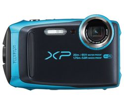 FUJIFILM XP120 Tough Compact Camera - Black & Sky Blue