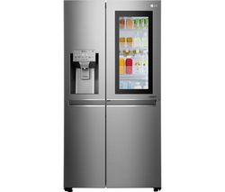 LG Instaview GSX961NSAZ American-Style Fridge Freezer - Shine Steel