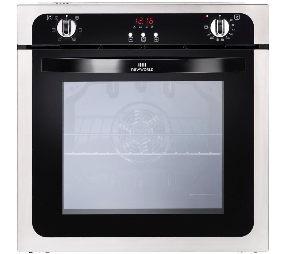 Image of NEW WORLD NW602FP STA Electric Oven - Black & Stainless Steel, Stainless Steel