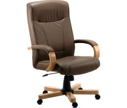 TEKNIK 85 Series 8511HLWBN Bonded-leather Reclining Executive Chair - Richmond Brown