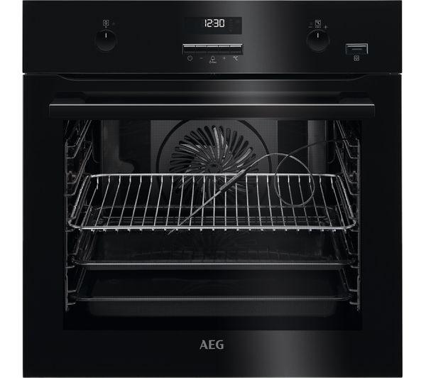 Image of AEG BPE552220B Electric Oven - Black