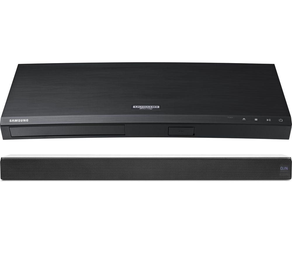 SAMSUNG Sound+ HW-MS550 2.1 All-in-One Sound Bar & Blu-ray Player Bundle