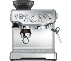 SAGE Barista Express BES875UK Bean to Cup Coffee Machine - Silver