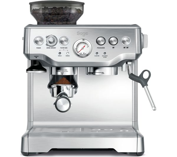 Image of SAGE Barista Express BES875UK Bean to Cup Coffee Machine - Silver