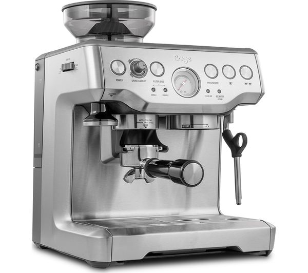 sage barista express bes875uk bean to cup coffee machine. Black Bedroom Furniture Sets. Home Design Ideas