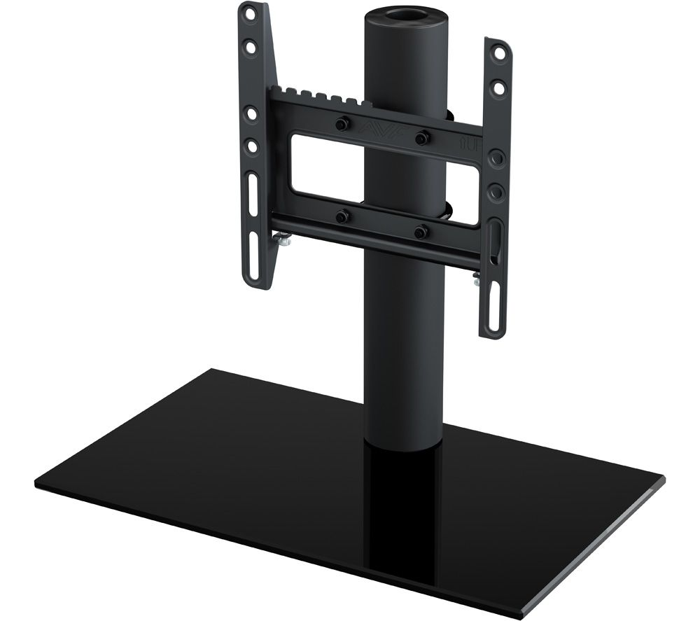 AVF B200BB 450 mm TV Stand with Bracket - Black, Black