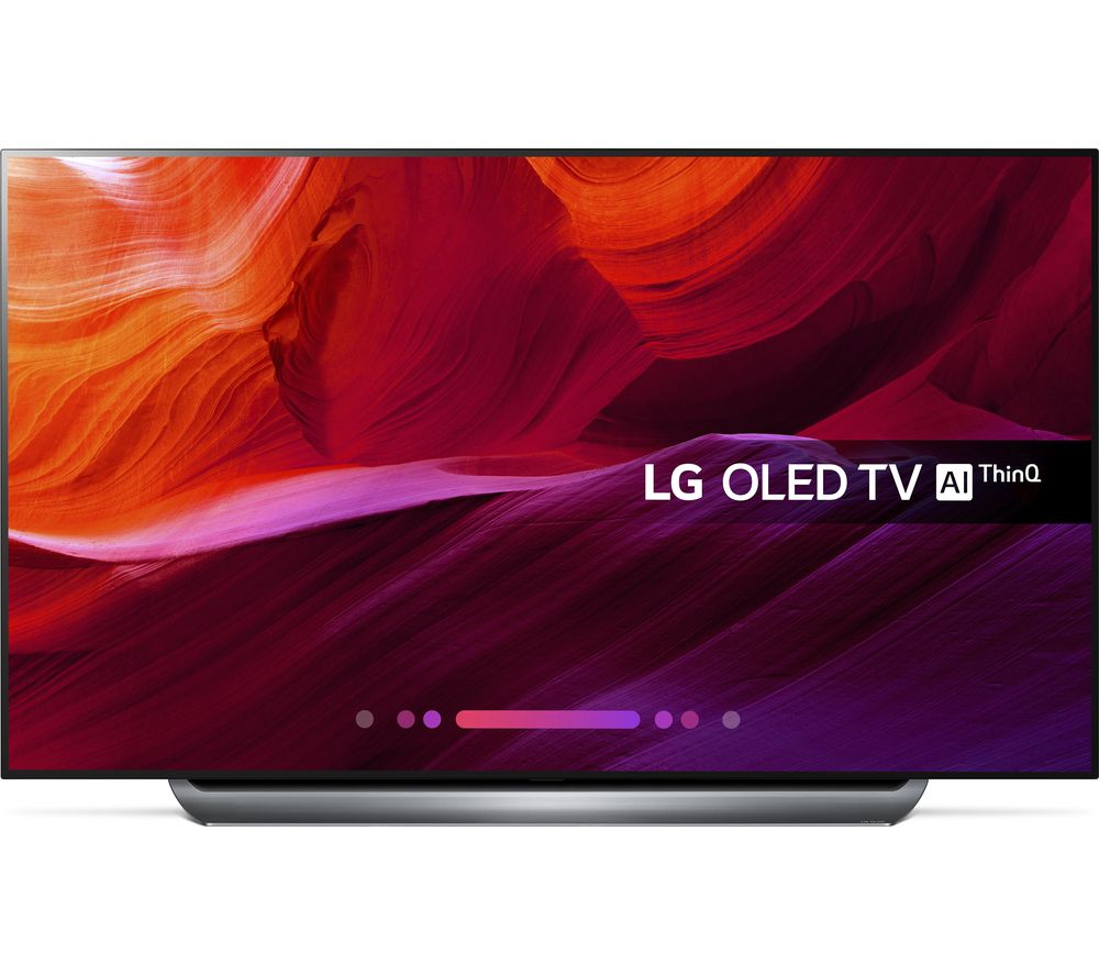 "77"" LG OLED77C8LLA Smart 4K Ultra HD HDR OLED TV, Black"