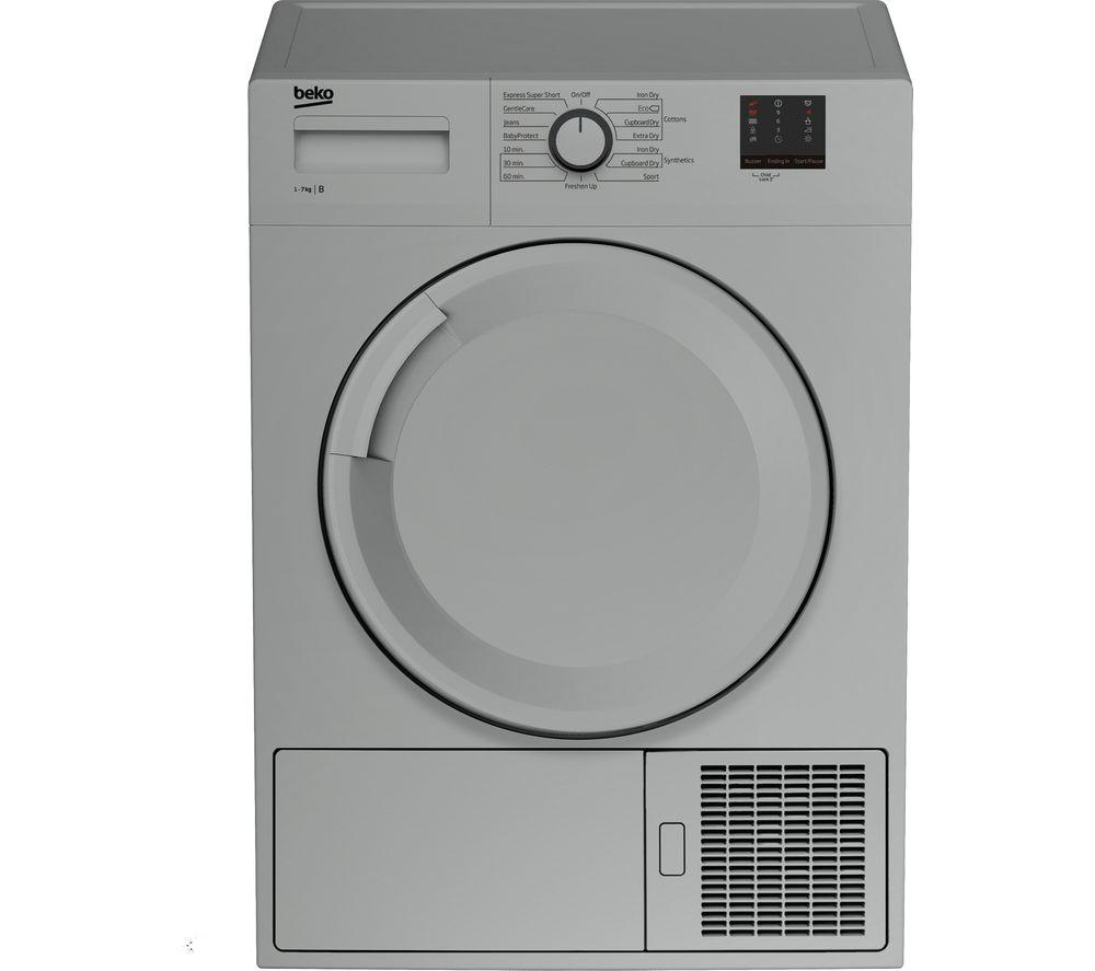 BEKO DTBC7001S 7 kg Condenser Tumble Dryer - Silver