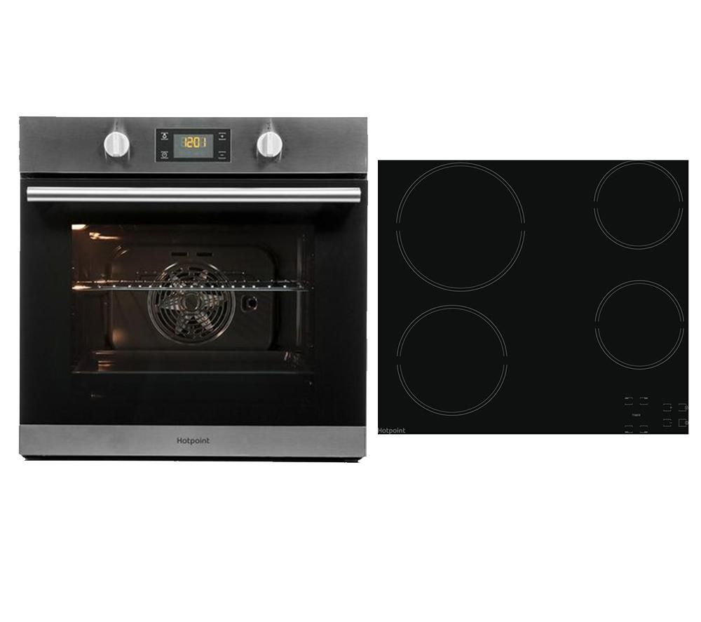 HOTPOINT Class 2 SA2 544 C IX Electric Single Oven & HR 651 C H Electric Ceramic Hob Bundle