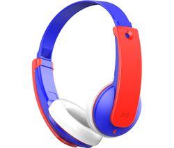 HA-KD9BT-A-E Wireless Bluetooth Kids Headphones - Blue & Red