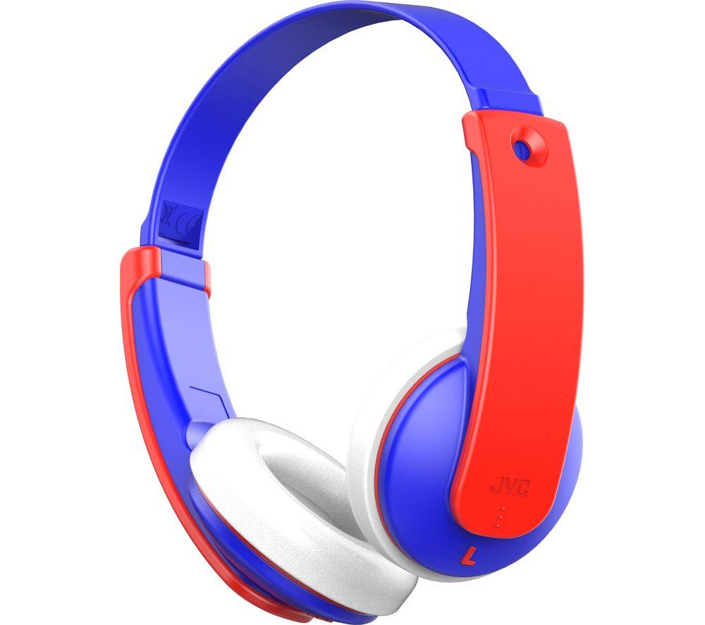 JVC HA-KD9BT-A-E Wireless Bluetooth Kids Headphones - Blue & Red