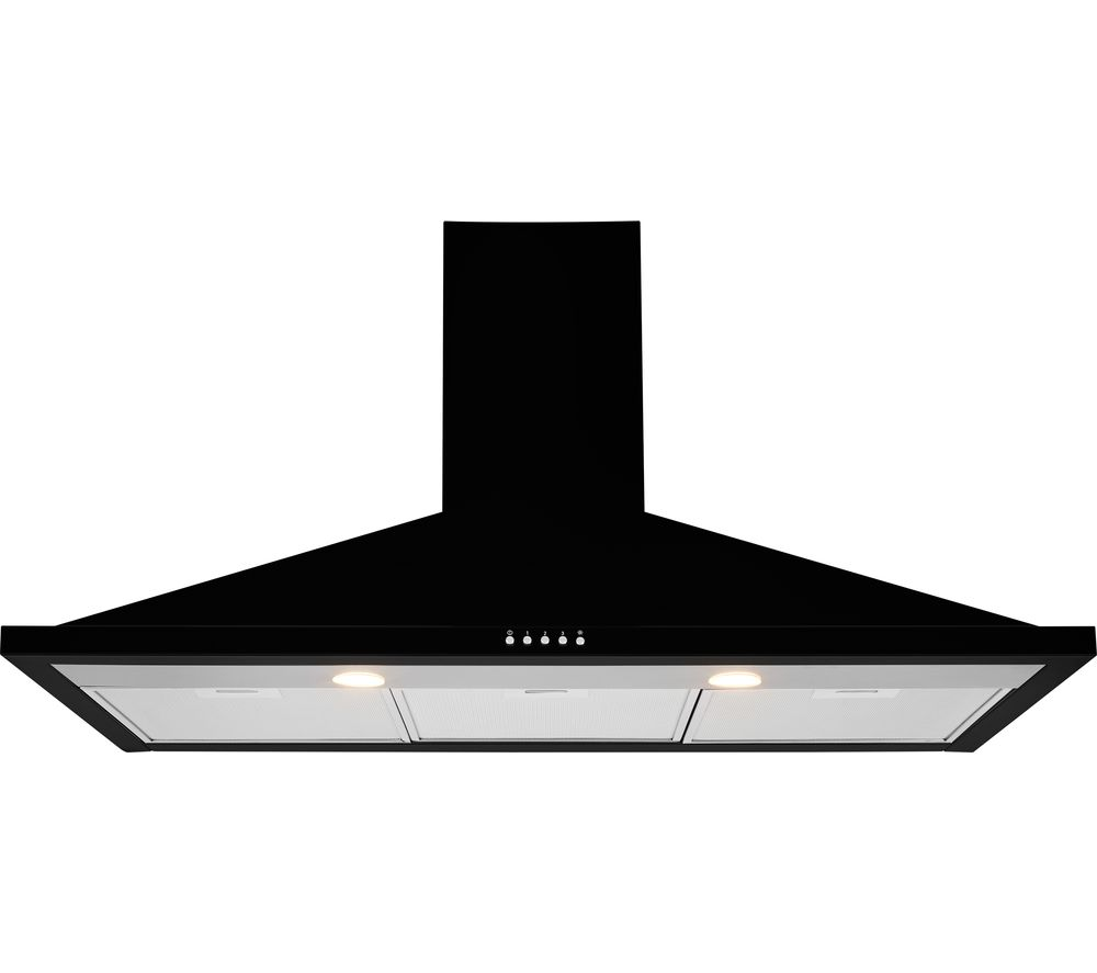 Image of Leisure 100cm Black Chimney Cooker Hood H102PK