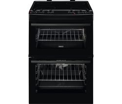 ZANUSSI ZCV66060BE 60 cm Electric Ceramic Cooker - Black Best Price, Cheapest Prices