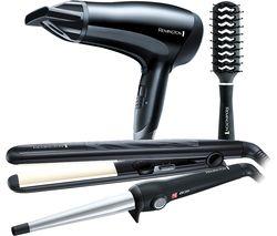 REMINGTON S3500GP Haircare Gift Pack - Black