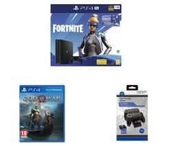 SONY PlayStation 4 Pro with Fortnite Neo Versa, Twin Docking Station & God of War Bundle