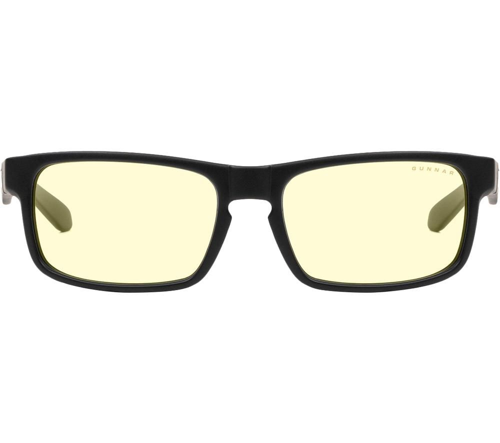 Image of GUNNAR Enigma Computer Glasses - Black & Yellow, Black