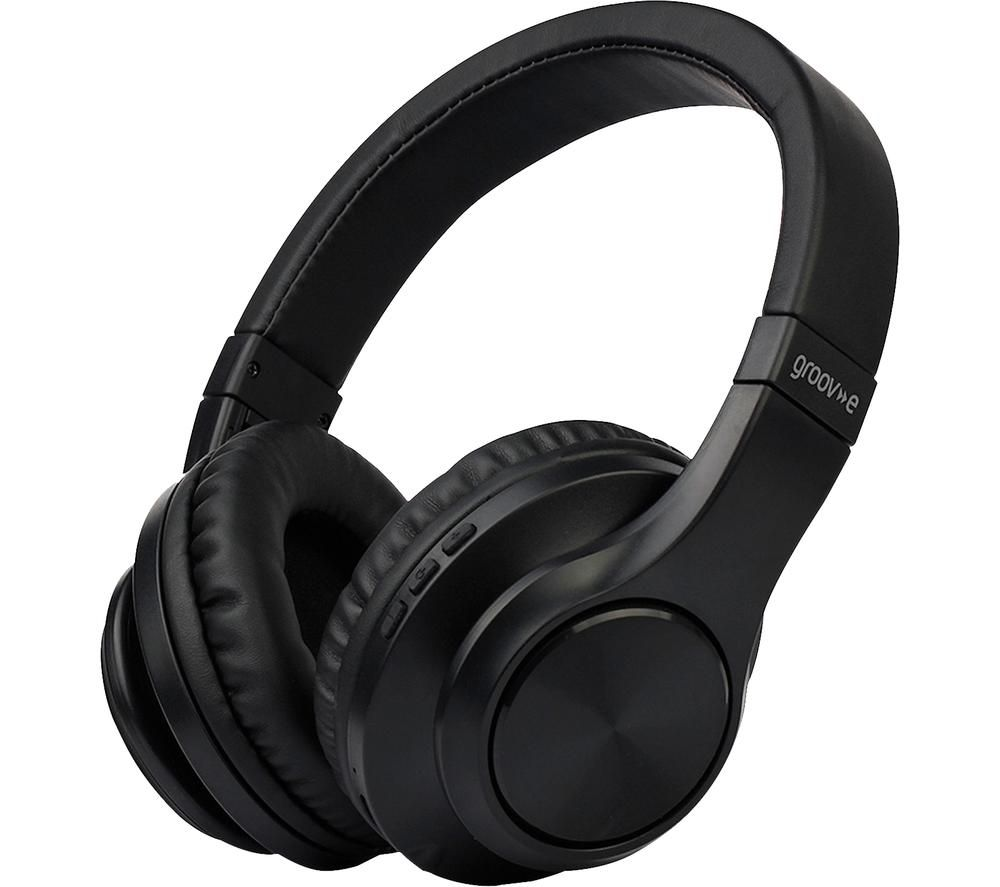 GROOV-E Rhythm GV-BT550 Wireless Bluetooth Headphones - Black, Black