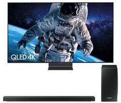 "SAMSUNG QE55Q90RATXXU 55"" Smart 4K Ultra HD HDR QLED TV & harman/kardon HW-Q70R 3.1.2 Wireless Sound Bar Bundle"