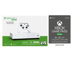 MICROSOFT Xbox One S All-Digital Edition, Minecraft, Sea of Thieves, Fortnite & Xbox Game Pass Bundle