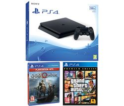 PlayStation 4 with God Of War & Grand Theft Auto V: Premium Edition - 500 GB