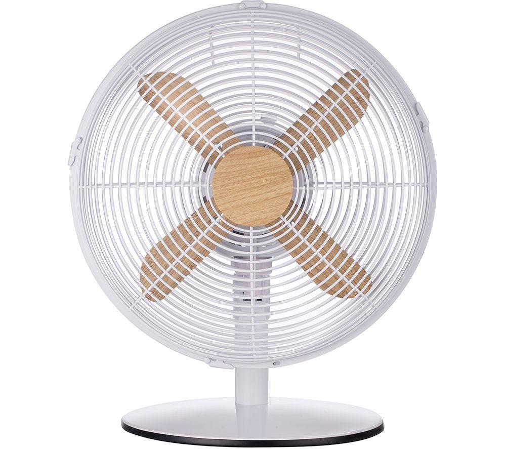 """RUSSELL HOBBS RHMDF1201WDW 12"""" Desk Fan - White"""