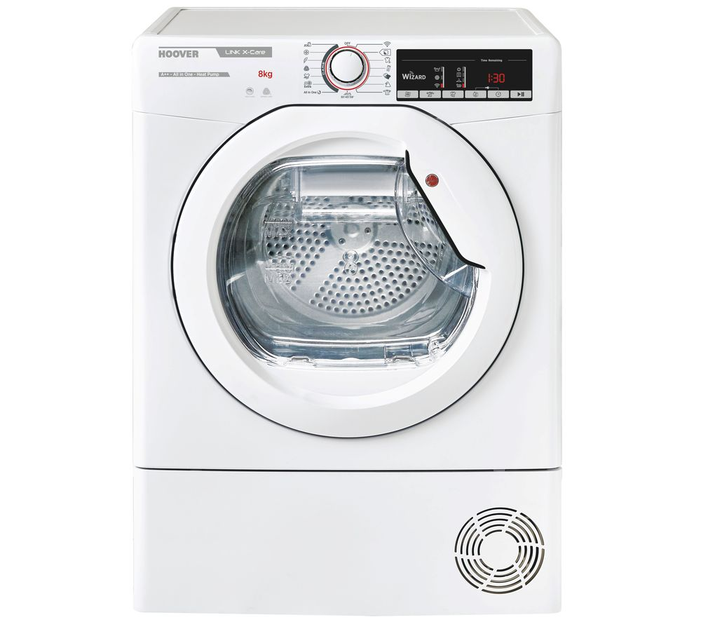 HOOVER Link X Care HLX H8A2TE NFC 8 kg Heat Pump Tumble Dryer - White
