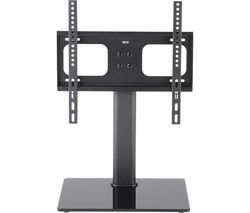 TT64F 550 mm TV Stand with Bracket - Black Glass & Metal